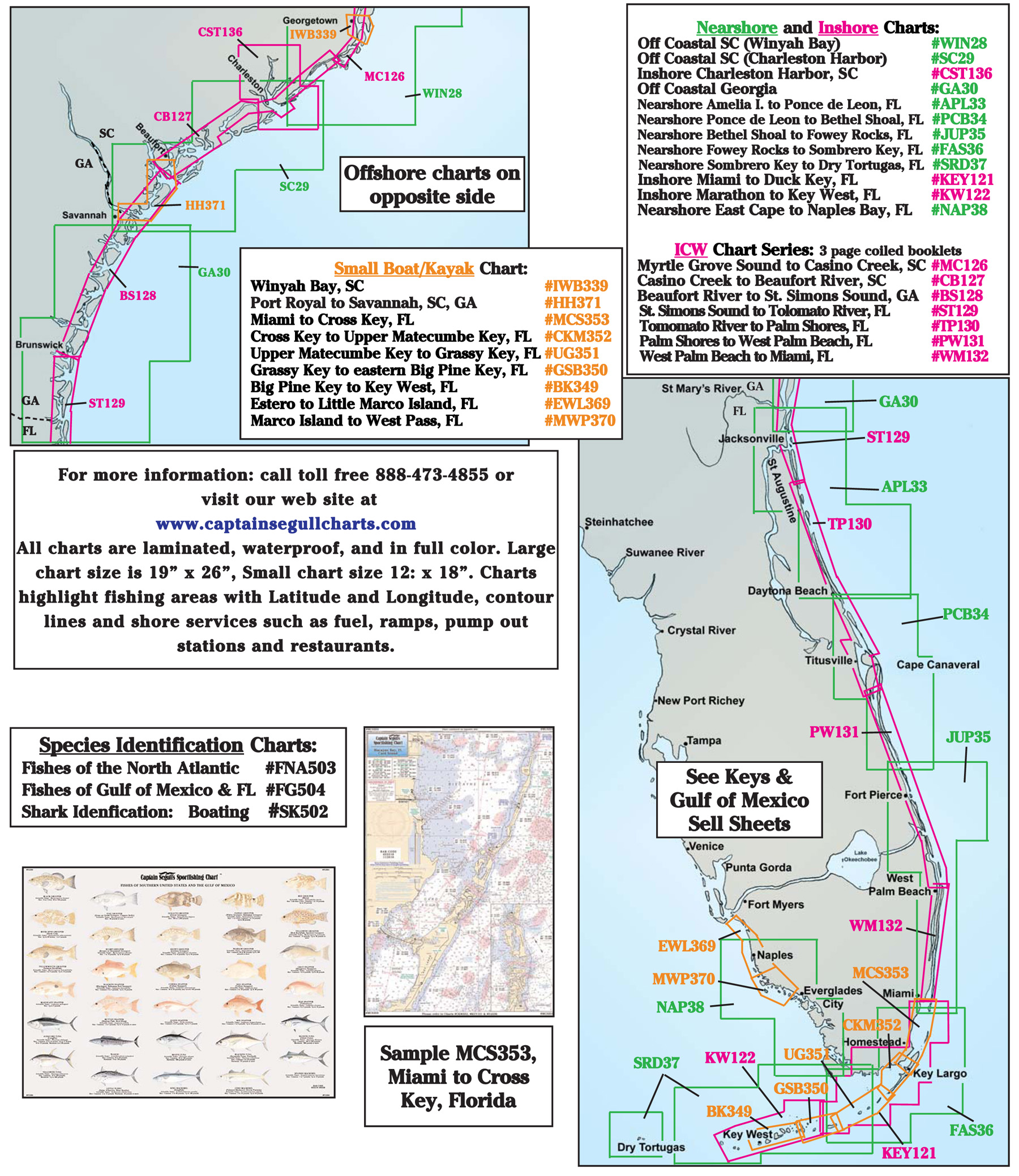 Coastline Layout Captain Segulls - Map of eastern florida